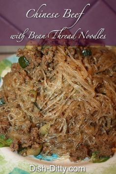 Chinese Beef with Bean Thread Noodles Recipe Asian Recipes, Beef Recipes, Cooking Recipes, Asian Foods, Chinese Recipes, Chinese Food, Laos Food, How To Cook Beans, Asian Cooking
