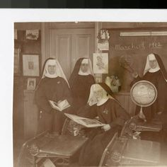 Benedictine sisters in classroom, Duluth, Minnesota ...its dated March of 1902..