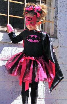 Bat Girl Costume Set includes: Long Sleeve Top, Tutu, Cape and Bat Girl Mask. **Please allow 1-2 extra business days for delivery.