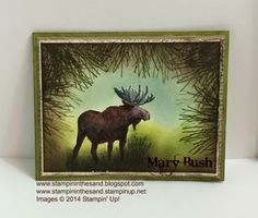 Stampin Up Moose in the Pines card from the Walk in the Wild stamp set