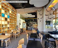 New business directory listing - Kafka café - http://engdex.pl/bd/kafka-cafe/ - Kafka Café is a cosy place located between the Warsaw Uniwersity and the Warsaw University Library where you can not only drink delicious coffee and eat something good, but also buy a book that we have saved from waste-paper collection point ( 10PLN /kilo), exchange your book into any one of ours or just seat and read our books.
