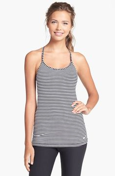 Nike 'Favorites' Stripe Racerback Tank available at #Nordstrom