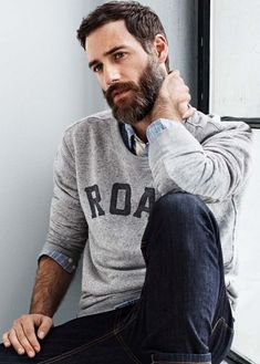 And beard styles, stylish outfits for men, stylish men, stylish beards, cas Hairy Men, Bearded Men, Fashion For Men Over 40, Stylish Beards, Sexy Bart, Stylish Mens Outfits, Casual Outfits, Casual Wear, Great Beards