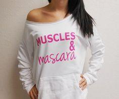 Muscles and Mascara Eco Fleece Sweatshirt. by StrongGirlClothing