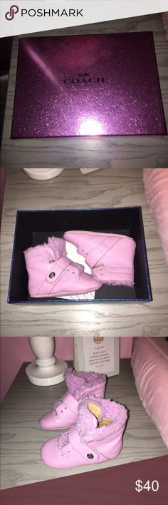 Coach Baby Urban Hiker Boots size 2 These boots are like brand new. My daughter wore them twice so the are very gently used. Coach Shoes Boots