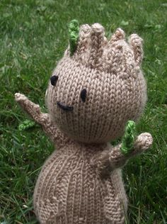 Knitting pattern for I Am Groot - #ad Baby Groot toy softie by Heather Kidd inspired by Guardians of the Galaxy.  approximately 17.5cm (7 inches) tall. tba movie superhero