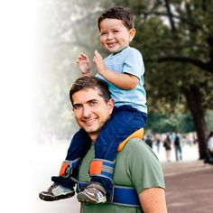 SaddleBaby is a new patented and uniquely simple product that enable parents carry their children on their shoulders hands-free. It supports parent-child bonding making outdoor experiences more enjoyable for both. All this in a very compact and powerful package! SaddleBaby replaces the traditional method of needing to hold your child's ankles with a much safer and practical system that uses high quality materials, industrial Velcro and adjustable buckles to secure your child.