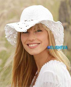 Ажурная летняя шляпа от Drops Design вязаная крючком | Блог elisheva.ru
