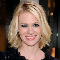 "January Jones Hair... Cutting my ""inverted bob"" off and doing this instead!"
