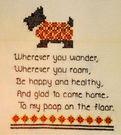 Wherever You Wander  Handmade Cross Stitched by CTHulhuAndSons, $75.00