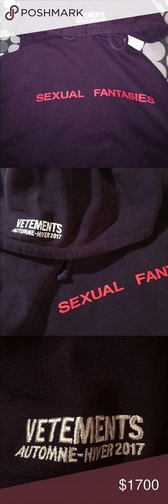 VETEMENTS Sexual Fantasies Hoodie size M Brand new with tag Vetements Shirts Sweatshirts & Hoodies