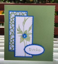 CAS158   Wasabi Flower by sue28 - Cards and Paper Crafts at Splitcoaststampers