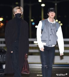 Incheon Airport Departure to LA Seokjin, Namjoon, Bts Jin, Bts Bangtan Boy, Jimin, Bts Airport, Airport Style, Airport Fashion, Korean Fashion