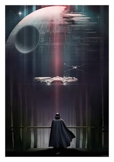 Gorgeous Star Wars trilogy by Andy Fairhurst. - Star Wars Canvas - Latest and trending Star Wars Canvas. - Gorgeous Star Wars trilogy by Andy Fairhurst. Star Wars Film, Star Wars Poster, Nave Star Wars, Star Wars Fan Art, Star Trek, Cultura Pop, Darth Vader, Le Retour Du Jedi, Star Wars Zeichnungen