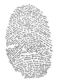 Enlarge student fingerprints and have kids write about