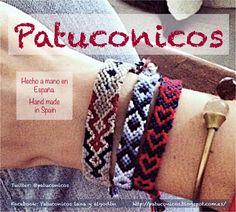 http://patuconicos.blogspot.com.es/ Pulseras Patuconicos Hechas a mano en España. Modelo Pagoda Gold precio 6€; modelo Espiga y modelo corazones Precio 4€. (gastos de envio no incluidos). - Encárgalas y te las envio por correo.