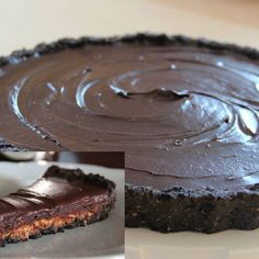 Chocolate Peanut Butter Cup Pie (no-bake!) | Made Just Right by Earth Balance vegan plantbased