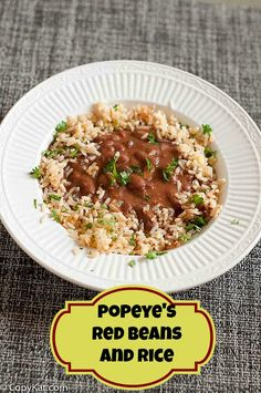 Popeyes Red Beans and Rice from CopyKat.com