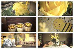 Black, Grey, & Yellow Bumble Bee Baby Shower Theme.