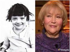 Фото: Знаменитые советские актеры в детстве и годы -спустя Елена Санаева-(Фото)