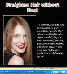 Hair - Straighten Hair without Heat
