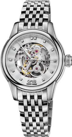 71ac006249b Oris Artelier Skeleton 56076874019MB. Women s WatchesLuxury WatchesWatches  For MenAutomatic WatchChronographSkeleton ...