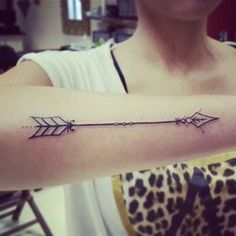 Wonderful Arm Arrow Tattoo for Women