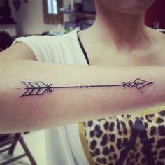 Wonderful Arm Arrow Tattoo for Women