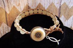 Bohemian wrap bracelet Quartz and leather by HeavenlyTreasuresLG