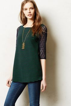 Foreststripe Tunic - anthropologie.com