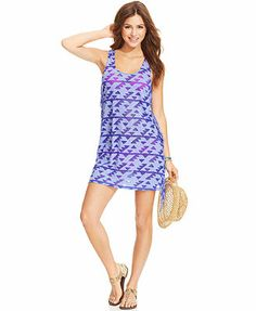 Miken Sleeveless Printed Cover Up