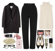 """Soft pink outfit"" by blackcherrypie1 ❤ liked on Polyvore featuring The Row, Topshop, Étoile Isabel Marant, Jimmy Choo, Aesop, NARS Cosmetics, Polaroid and ASOS"