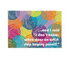 Yarn Hoarder Greeting Card: How much yarn is too much by KnerdShop
