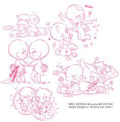 cr on pixiv: manu Anime Drawings Sketches, Cute Drawings, Chibi Sketch, Manga Drawing Tutorials, Poses References, Art Poses, Drawing Reference Poses, Drawing Base, Drawing Challenge