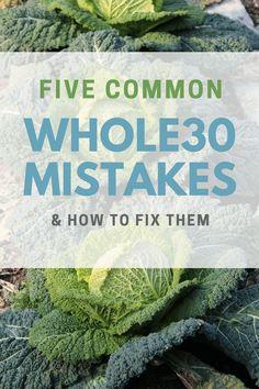 Common Whole30 mista