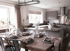 Another beautiful shot of that gorgeous French inspired, Interior Designed Kitchen Dining Room by Elizabeth Archer {The Room Interiors, Leicester} for Westleigh Homes