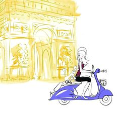 Vie a Paris Illustration by Elaine Biss