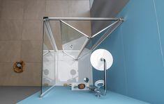 EASY LINE sprchové dveře skládací 900mm, čiré sklo : SAPHO E-shop Program, Mirror, Bathroom, Easy, Shop, Furniture, Home Decor, Washroom, Decoration Home