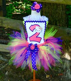 Hello Kitty Fancy Pixie Tutu Dress, Pageant Style, Corset Tutu Set, Completely custom, ANY Birthday Number, Color or Theme by PoshPinkTutus on Etsy