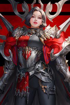 ArtStation - Attack, TaeKwon Kim / A-rang Anime Angel Girl, Anime Art Girl, Fantasy Art Women, Fantasy Girl, Female Character Design, Character Art, Anime Warrior Girl, Super Images, Cool Poses