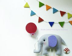 ELEPHANT with BALLOON Custom Party Topper