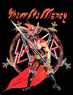 Slayer - Show No Mercy / 1983 Heavy Metal Rock, Heavy Metal Music, Heavy Metal Bands, Black Metal, Slayer Show No Mercy, Hard Rock, Woodstock, Slayer Tattoo, Rock Bands