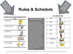Special Needs Storytime: Samples for Picture Book Rules and Storytime Schedule
