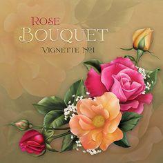 """Jaguarwoman's """"Rose Bouquet Vignette #1"""""""