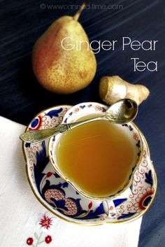 | Crystallized Ginger Candy & Ginger Pear Tea