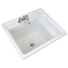 fiberglass selfrimming multitask sink optional - Laundry Tubs