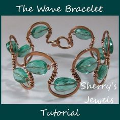The Wave Bracelet You will need chain nose and round nose pliers, wire cutters, wire, hammer and block and some beads Once mastered, use heavier wire for the frame and turn it into a cuff. Small bits of the snake are good for earrings& pendants