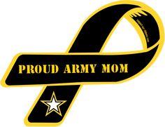 Custom Ribbon: Proud Army Mom