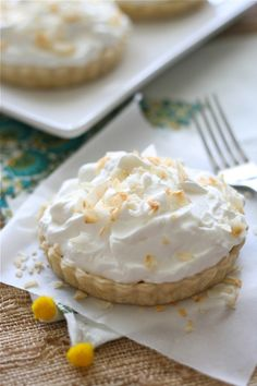 Coconut Banana Cream Tarts