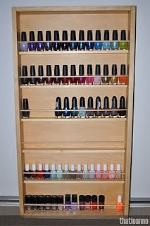 Note to self...get dowel rods...Nail polish organization and storage